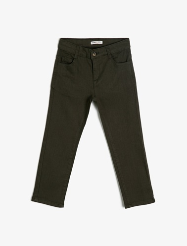 Koton Kids Cep Detaylı Pantolon Yeşil